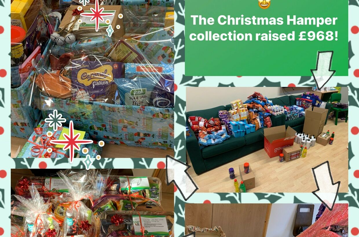 The Croft Raises £968 in Christmas Hamper Collection